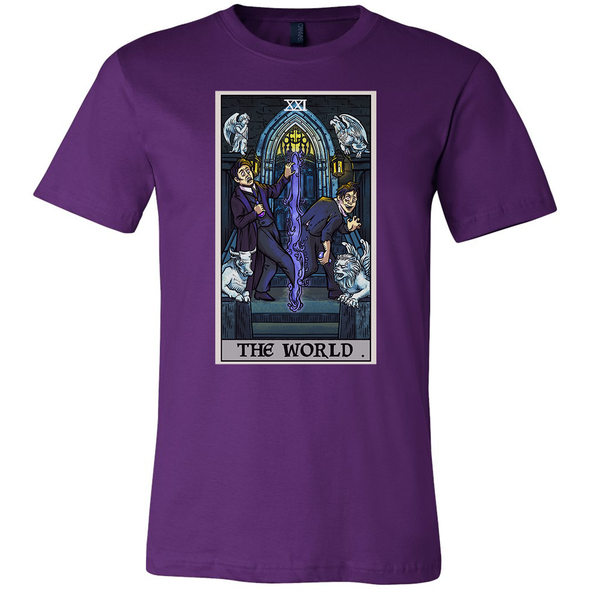 teelaunch T-shirt Canvas Mens Shirt / Team Purple / S The World Tarot Card - Ghoulish Edition Unisex T-Shirt