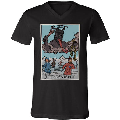 teelaunch T-shirt Canvas Mens V-Neck / Black / S Judgement By Krampus Unisex V-Neck