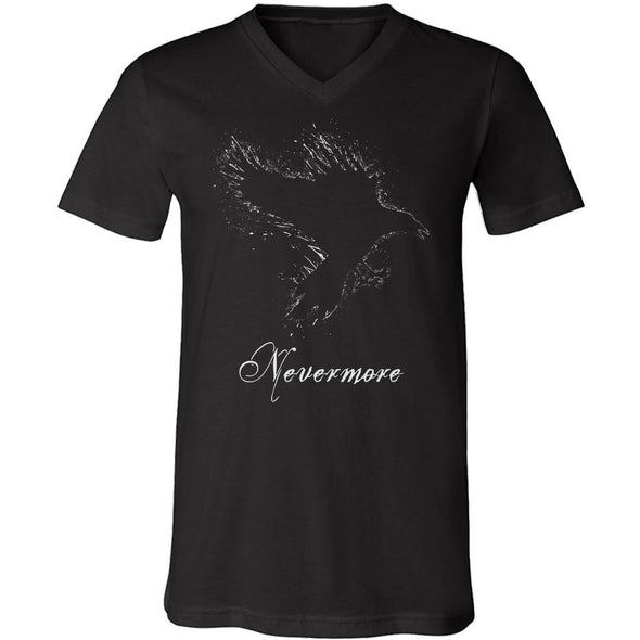 teelaunch T-shirt Canvas Mens V-Neck / Black / S Nevermore Unisex V-Neck