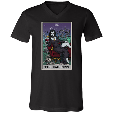 teelaunch T-shirt Canvas Mens V-Neck / Black / S The Empress Tarot Card - Ghoulish Edition Unisex V-Neck