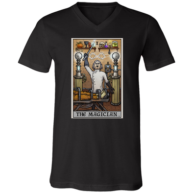 teelaunch T-shirt Canvas Mens V-Neck / Black / S The Magician Tarot Card - Ghoulish Edition Unisex V-Neck