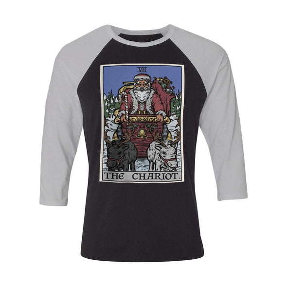 teelaunch T-shirt Canvas Unisex 3/4 Raglan / Black/White / S The Chariot - Christmas Edition Raglan
