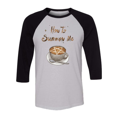 teelaunch T-shirt Canvas Unisex 3/4 Raglan / White/Black / S How To Summon Me Raglan