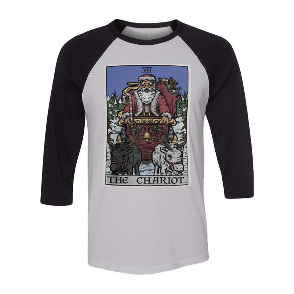 teelaunch T-shirt Canvas Unisex 3/4 Raglan / White/Black / S The Chariot - Christmas Edition Raglan