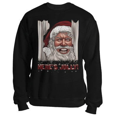 teelaunch T-shirt Crewneck Sweatshirt / Black / S Here's Jolly! Unisex Sweatshirt
