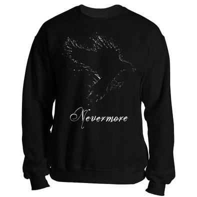 teelaunch T-shirt Crewneck Sweatshirt / Black / S Nevermore Unisex Sweatshirt