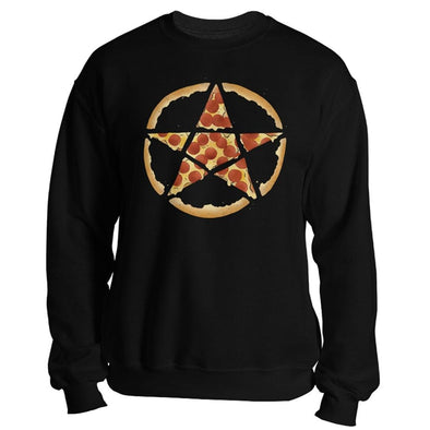 teelaunch T-shirt Crewneck Sweatshirt / Black / S Pizzagram Unisex Sweatshirt