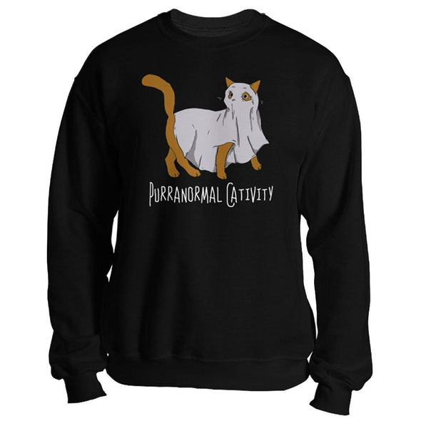 teelaunch T-shirt Crewneck Sweatshirt / Black / S Purranormal Cativity Unisex Sweatshirt