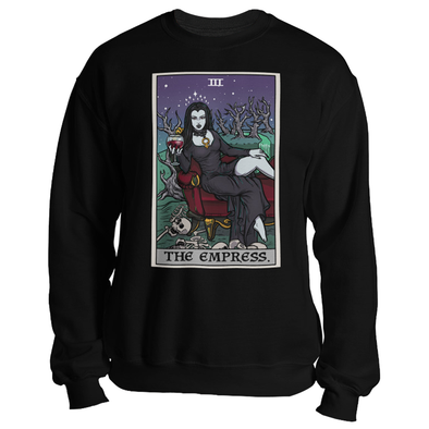 teelaunch T-shirt Crewneck Sweatshirt / Black / S The Empress Tarot Card - Ghoulish Edition Unisex Sweatshirt