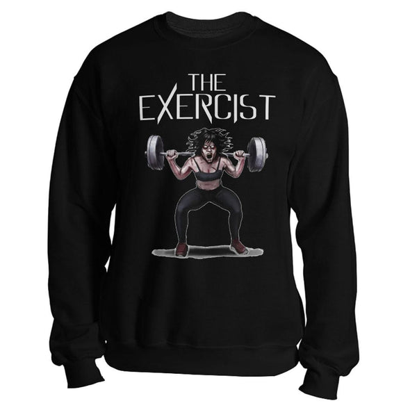 teelaunch T-shirt Crewneck Sweatshirt / Black / S The Exercist Unisex Sweatshirt