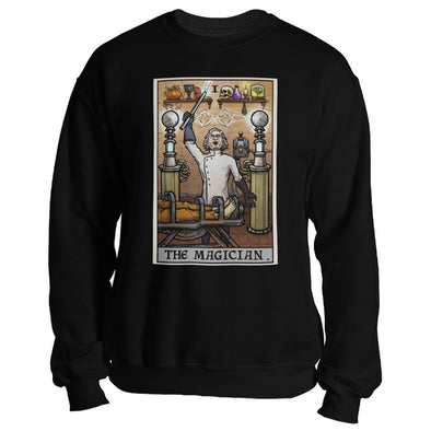 teelaunch T-shirt Crewneck Sweatshirt / Black / S The Magician Tarot Card - Ghoulish Edition Unisex Sweatshirt