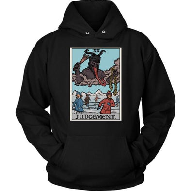 teelaunch T-shirt Unisex Hoodie / Black / S Judgement By Krampus Unisex Hoodie