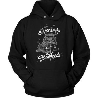 teelaunch T-shirt Unisex Hoodie / Black / S My Evening Is All Booked Unisex Hoodie