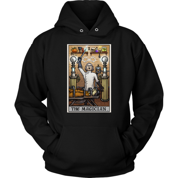 teelaunch T-shirt Unisex Hoodie / Black / S The Magician Tarot Card - Ghoulish Edition Unisex Hoodie