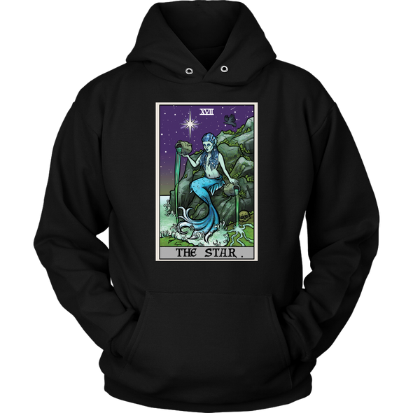 teelaunch T-shirt Unisex Hoodie / Black / S The Star Tarot Card - Ghoulish Edition Unisex Hoodie