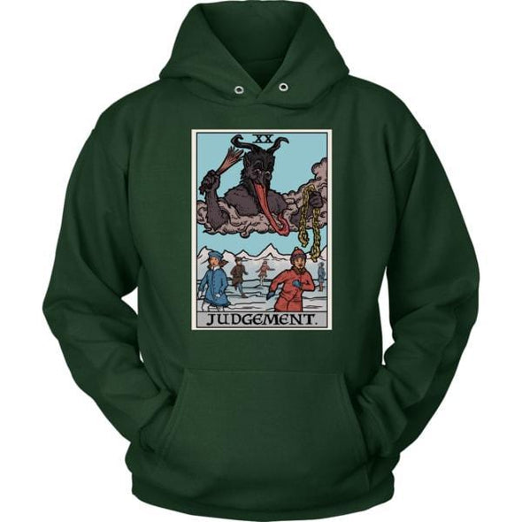 teelaunch T-shirt Unisex Hoodie / Dark Green / S Judgement By Krampus Unisex Hoodie