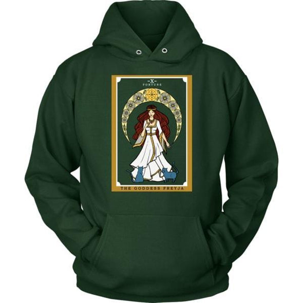 The Goddess Freyja In Tarot Unisex Hoodie