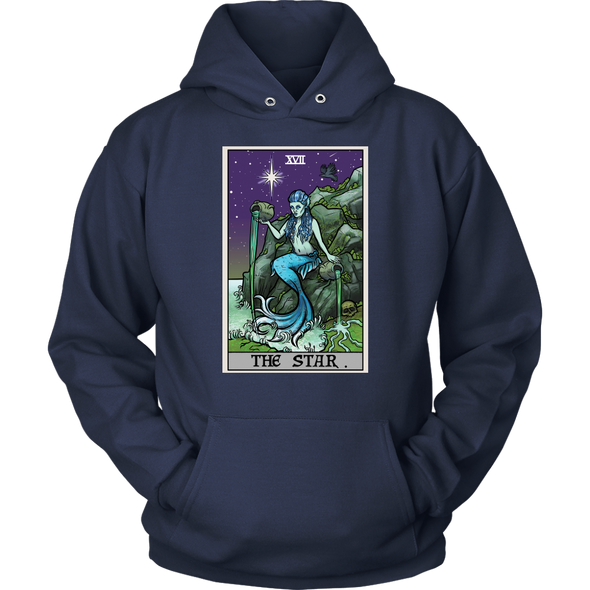 teelaunch T-shirt Unisex Hoodie / Navy / S The Star Tarot Card - Ghoulish Edition Unisex Hoodie