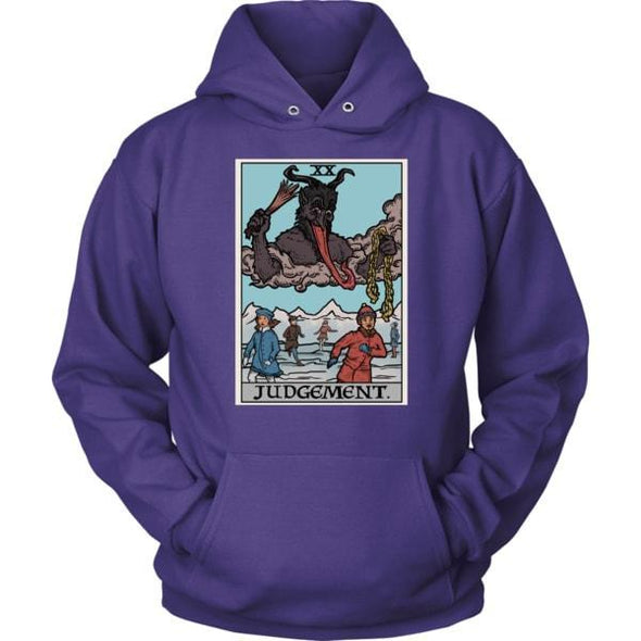 teelaunch T-shirt Unisex Hoodie / Purple / S Judgement By Krampus Unisex Hoodie