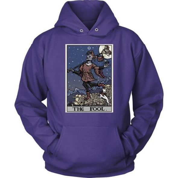 teelaunch T-shirt Unisex Hoodie / Purple / S The Fool Tarot Card Unisex Hoodie