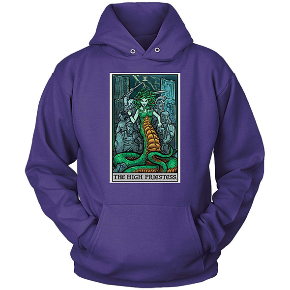 teelaunch T-shirt Unisex Hoodie / Purple / S The High Priestess Tarot Card - Ghoulish Edition Unisex Hoodie