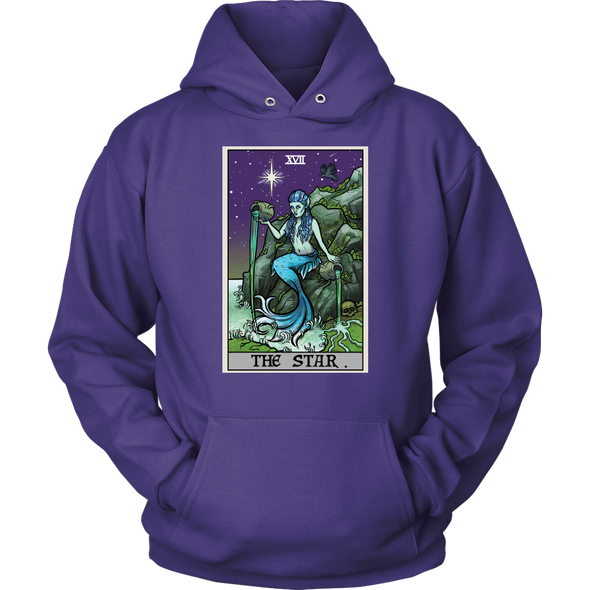 teelaunch T-shirt Unisex Hoodie / Purple / S The Star Tarot Card - Ghoulish Edition Unisex Hoodie