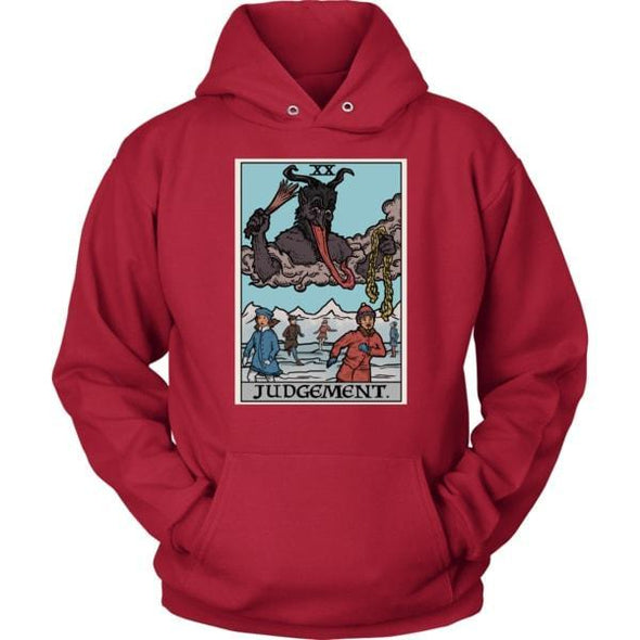 teelaunch T-shirt Unisex Hoodie / Red / S Judgement By Krampus Unisex Hoodie