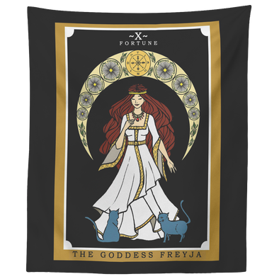 "teelaunch Tapestries 60"" x 50"" The Goddess Freyja In Tarot Tapestry"