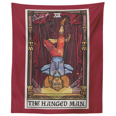 "teelaunch Tapestries 60"" x 50"" The Hanged Man Tarot Card - Ghoulish Edition Tapestry"