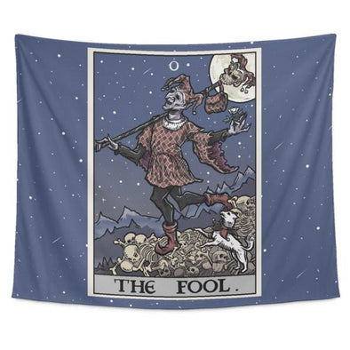 "teelaunch Tapestries Tapestry - 60"" x 51"" The Fool Tarot Card Tapestry"