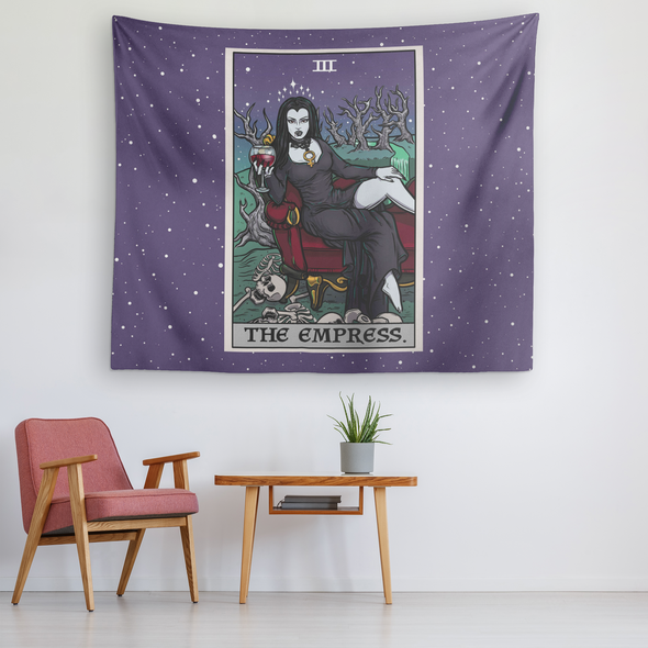 teelaunch Tapestries The Empress Tarot Card - Ghoulish Edition Tapestry