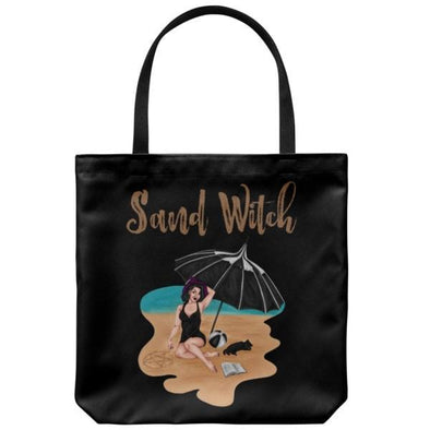 teelaunch Tote Bags Black Sand Witch Tote Bag
