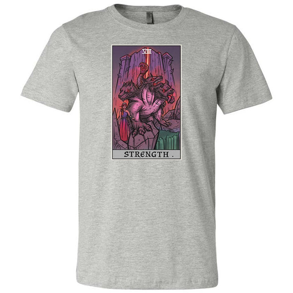 The Ghoulish Garb Athletic Heather / S Strength Tarot Card - Ghoulish Edition Unisex T-Shirt