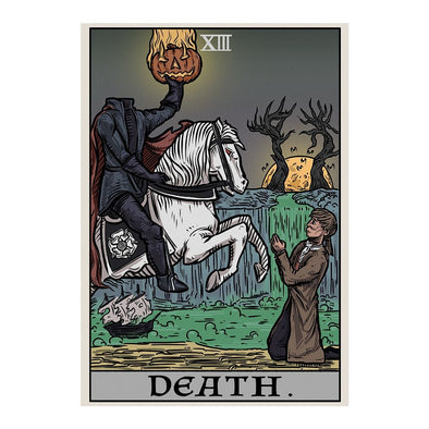 The Ghoulish Garb Design Death Tarot Card - Ghoulish Edition