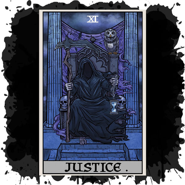 The Ghoulish Garb Design Justice Tarot Card - Ghoulish Edition
