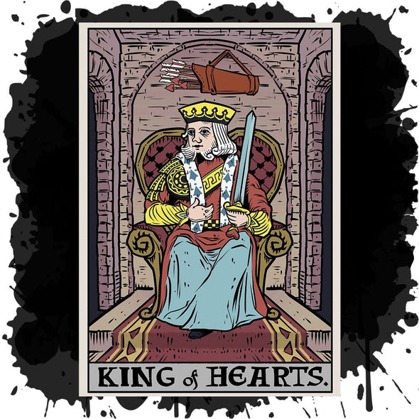The Ghoulish Garb Design King of Hearts In Tarot