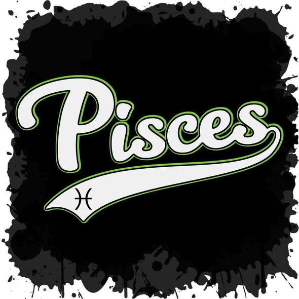 The Ghoulish Garb Design Pisces - Baseball Style