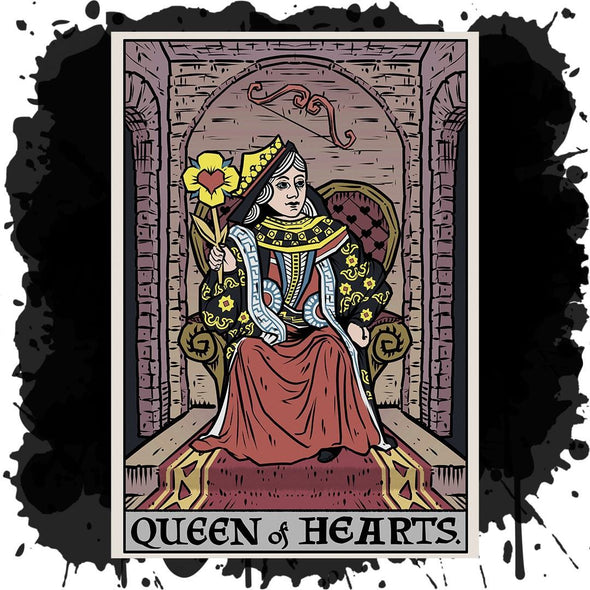 The Ghoulish Garb Design Queen of Hearts In Tarot