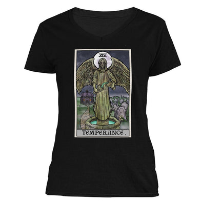 The Ghoulish Garb Design S Temperance Tarot Card - Ghoulish Edition Women's V-Neck