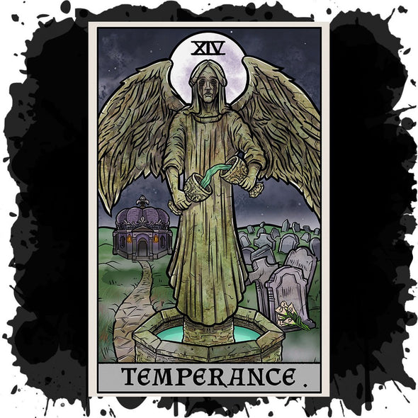 The Ghoulish Garb Design Temperance Tarot Card - Ghoulish Edition