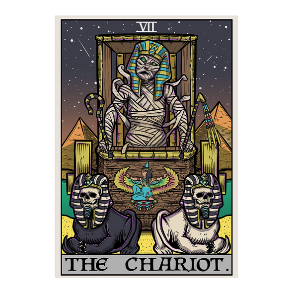 The Ghoulish Garb Design The Chariot Tarot Card - Ghoulish Edition