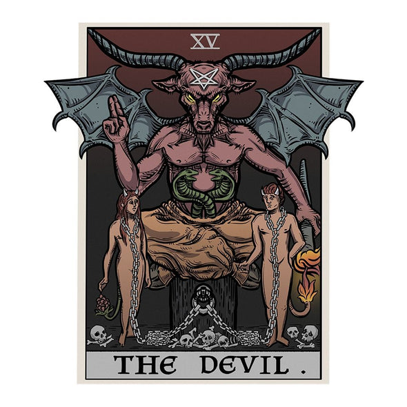 The Ghoulish Garb Design The Devil Tarot Card - Ghoulish Edition