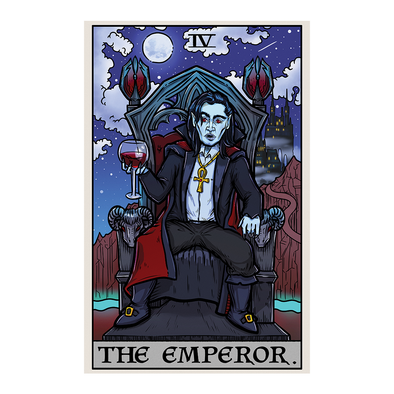 The Ghoulish Garb Design The Emperor Tarot Card - Ghoulish Edition
