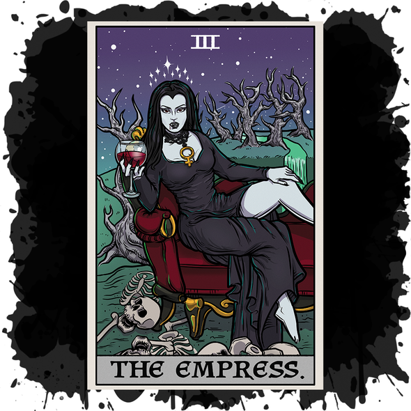 The Ghoulish Garb Design The Empress Tarot Card - Ghoulish Edition