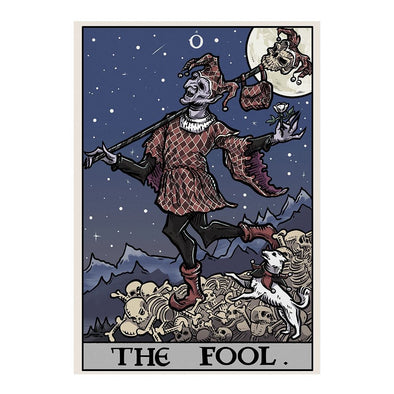 The Ghoulish Garb Design The Fool Tarot Card - Ghoulish Edition