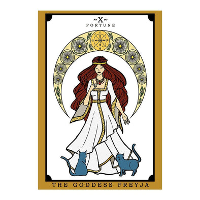 The Ghoulish Garb Design The Goddess Freyja Tarot