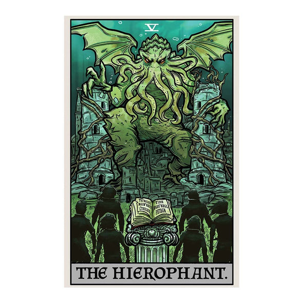 The Ghoulish Garb Design The Hierophant Tarot Card - Ghoulish Edition