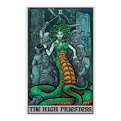 The Ghoulish Garb Design The High Priestess Tarot Card - Ghoulish Edition