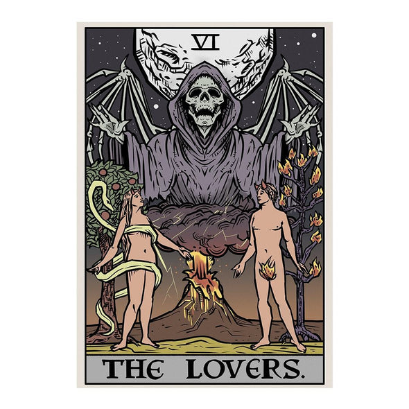 The Ghoulish Garb Design The Lovers Tarot Card - Ghoulish Edition