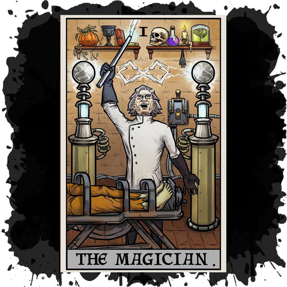 The Ghoulish Garb Design The Magician Tarot Card - Ghoulish Edition